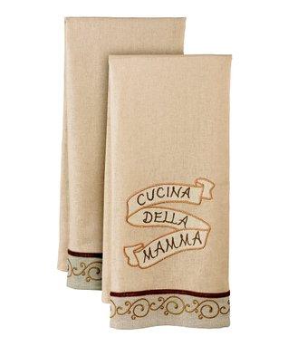 'Cucina Della Mamma' Tea Towel - Set of Two