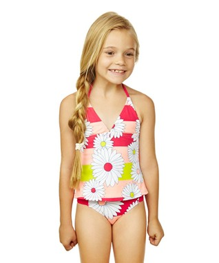 Pink Strawberry Fields Tankini - Girls
