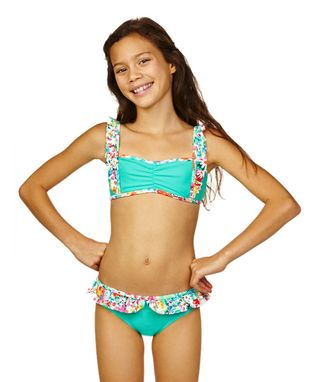Aqua Bloom Bikini - Girls
