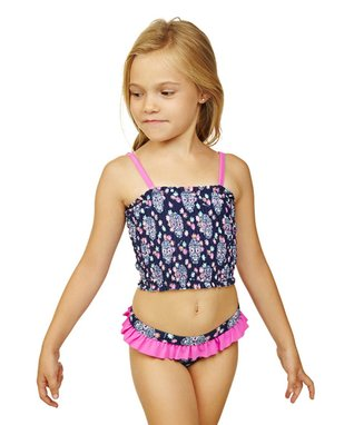 Wavy Navy Summer Lovin Tankini - Girls