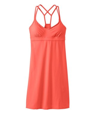 Light Coral Sunset Coastline Swimdress
