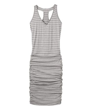 Gray Heather Striped Tee Racerback Dress