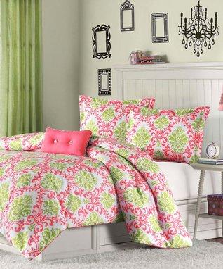 Coral Isobel Comforter Set