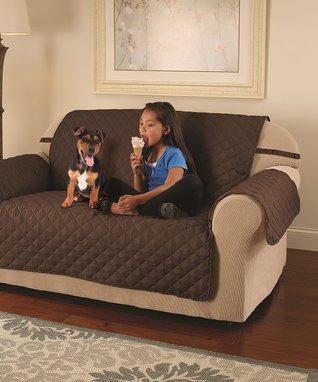 Chocolate Microfiber Furniture Protector