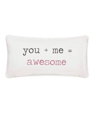 'You + Me = Awesome' Throw Pillow