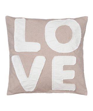 Taupe 'Hug' Throw Pillow