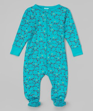 Blue Hoot Organic Footie - Infant