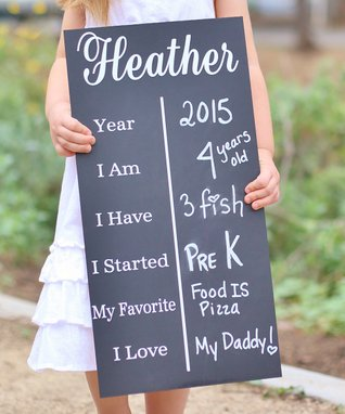 Birthday Photo Prop Chalkboard Sign