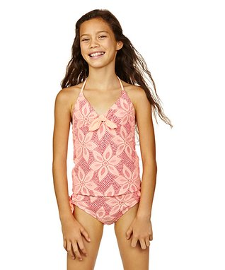 Hot Papaya Sunshine Tankini - Girls