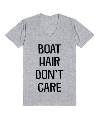 Skreened Heather Gray 'Boat Hair' V-Neck Tee