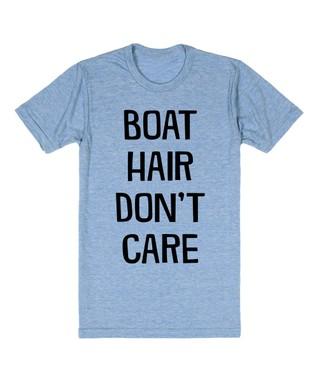 Skreened Heather Blue 'Boat Hair' Tee