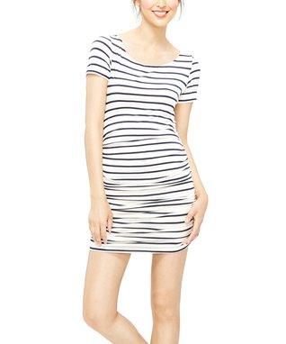 Amour Vert Navy Stripe Connie Dress