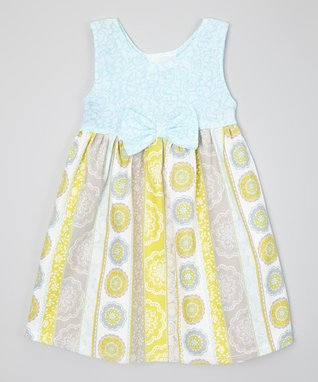Pastel Blue & Gray Floral Dress - Infant, Toddler & Girls
