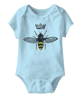 Light Blue Queen Bee Bodysuit - Infant