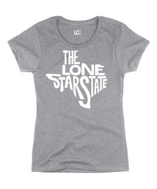 Athletic Heather 'The Lone Star State' Crewneck Tee
