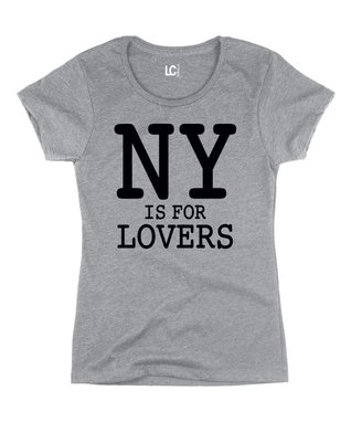 Athletic Heather 'NY is for Lovers' Crewneck Tee