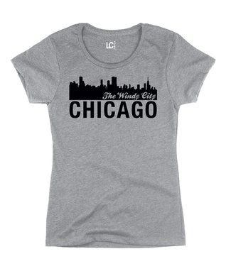 Athletic Heather 'Chicago - The Windy City' Crewneck Tee