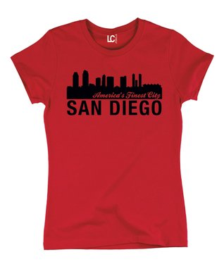 Red 'San Diego - America's Finest City' Crewneck Tee