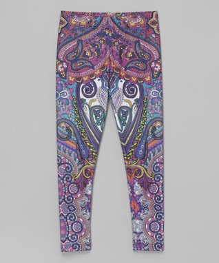 Purple Pastel Paisley Leggings - Infant, Toddler & Girls