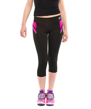 Fin Navy & Mint Performance Capri Yoga Pants - Women