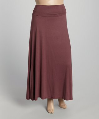 Diva Fashions Marsala Maxi Skirt - Women