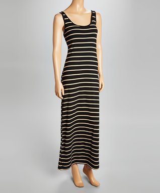 Heart & Hips Black & White Stripe Maxi Dress - Women