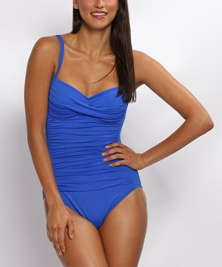 La Blanca Black Ruched Island Twist Convertible One-Piece - Women