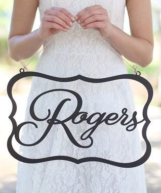Wedding Personalized Wall Sign