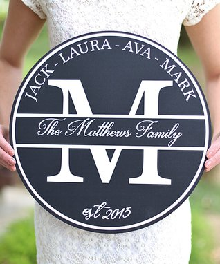 Personalized Family Personalized Sign