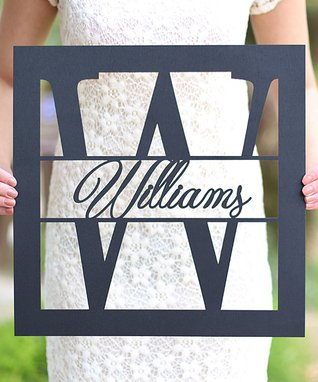 Unfinished Rectangle Personalized Last Name Sign