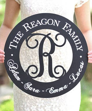 Round Family Personalized Sign