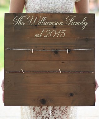 Rustic Family Personalized Photograph Sign