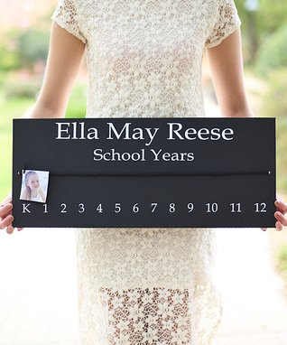 Personalized School Years Sign