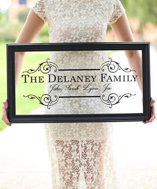 Extra Large Elegant Personalized Framed Sign