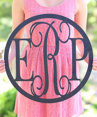 Unfinished Monogram Wall Sign