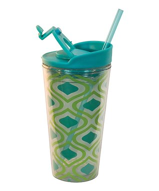 Green Peacock Graphic 16-Oz. Insulated Tumbler