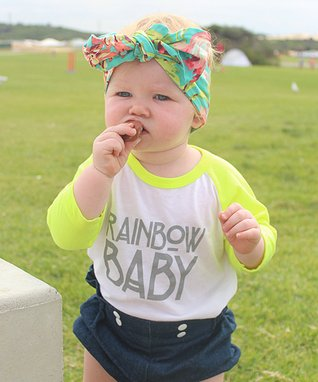 Neon Yellow 'Rainbow Baby' Raglan Tee - Infant