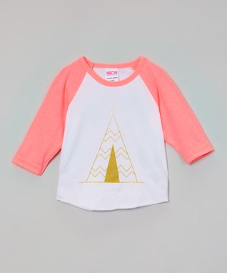 Neon Pink Teepee Raglan Tee - Infant