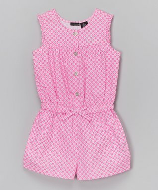 Pink Floral Bow Romper - Infant & Girls