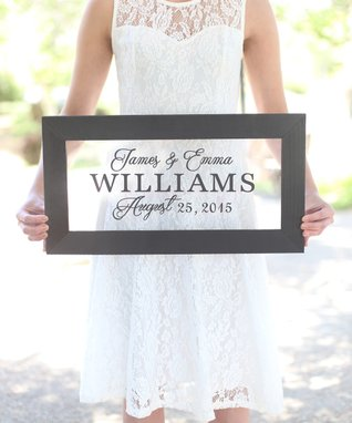 Black Personalized Couples Wall Sign