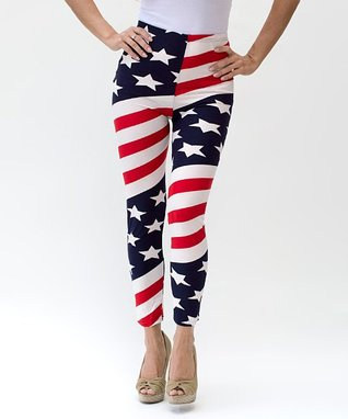 A+A Red American Flag Leggings