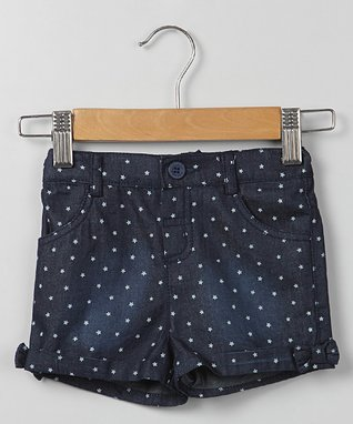 Blue Star Chambray Shorts - Infant, Toddler & Girls