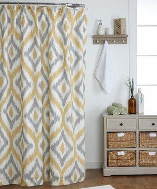 Amya Yellow Shower Curtain