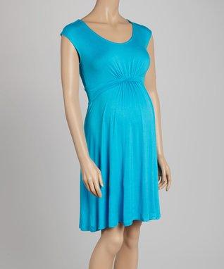 Mom & Co. Turquoise Maternity Sleeveless Dress - Women