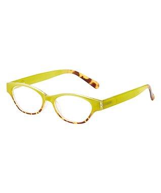 Lime Green & Tortoise Laverne Eye Candy Reader