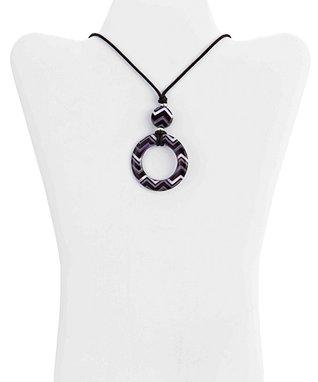 Blue & White Geometric Eye Catchers Eyeglass Necklace