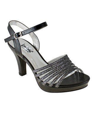 Lena Luisa Black Braided Daisy Wedge Sandal