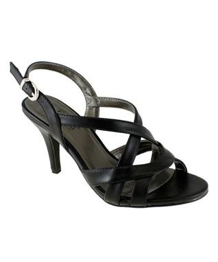 Lena Luisa Black Crisscross Laven Sandal
