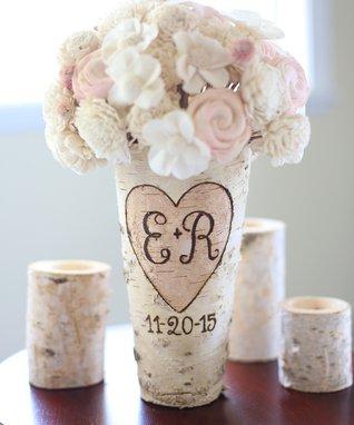 Date & Initial Birch Vase