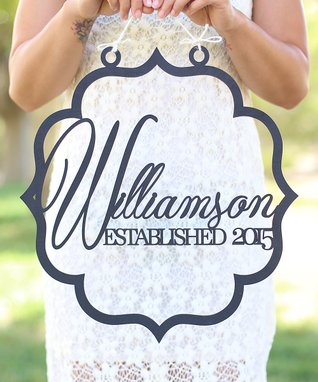 Unfinished Personalized Wedding Sign